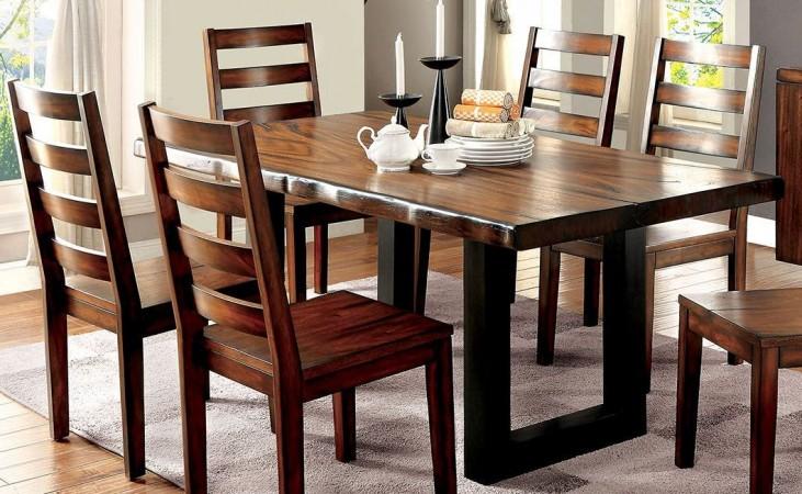 Maddison Tobacco Oak Rectangular Dining Table