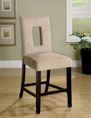 West Palm II Espresso Counter Height Chair Set of 2