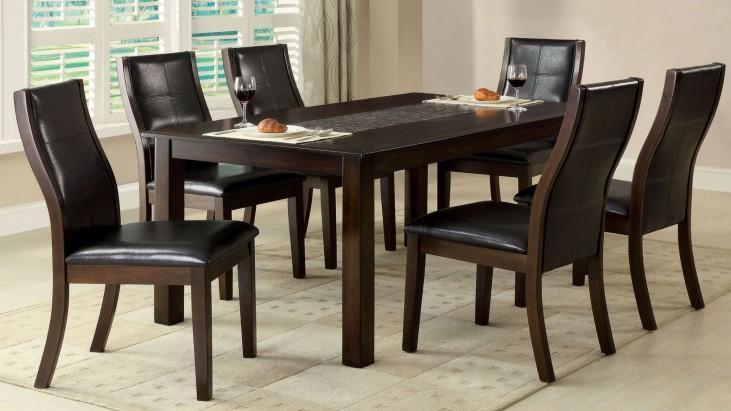 Townsend I Mosaic-Insert Rectangular Leg Dining Room Set