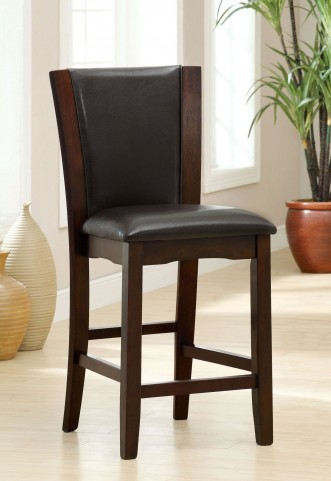 Manhattan III Espresso Counter Height Chair Set of 2