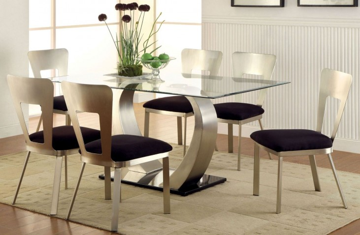 Nova Satin Plated Rectangular Dining Room Set