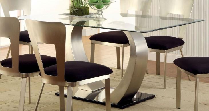 Nova Satin Plated Rectangular Dining Table