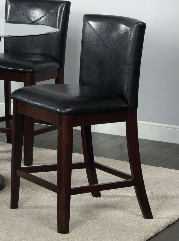 Atenna II Leatherette Parson Counter Height Chair Set of 2