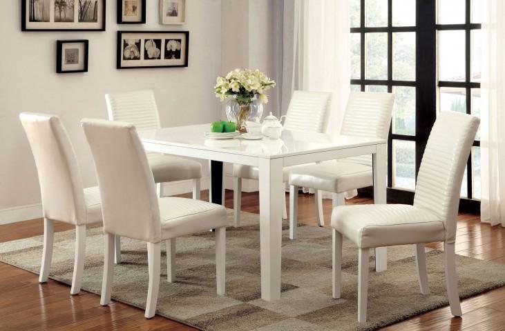 Levna White Rectangular Dining Room Set