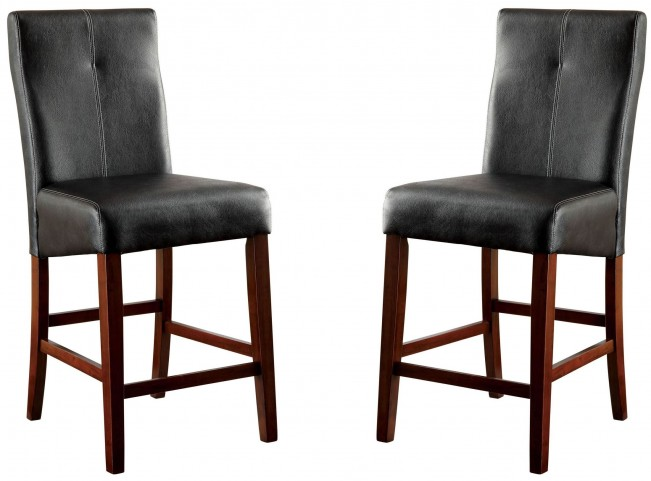Bonneville II Leatherette Counter Height Chair Set of 2