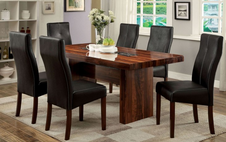 Bonneville I Brown Cherry Rectangular Trestle Dining Room Set