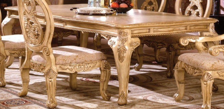 Tuscany III Antique White Rectangular Leg Dining Table