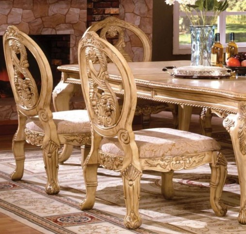 Tuscany III Antique White Side Chair Set of 2
