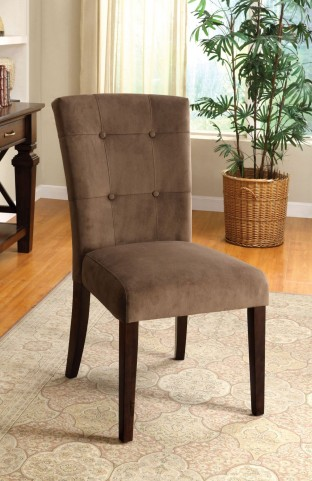 Havana Espresso Upholstered Side Chair Set of 2