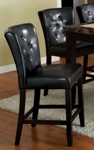 Belleview II Dark Gray Leatherette Counter Height Chair Set of 2