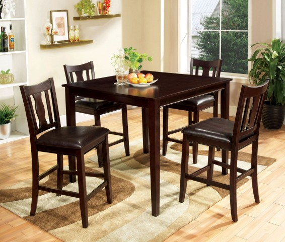 West Creek II 5 Piece Counter Height Table Set