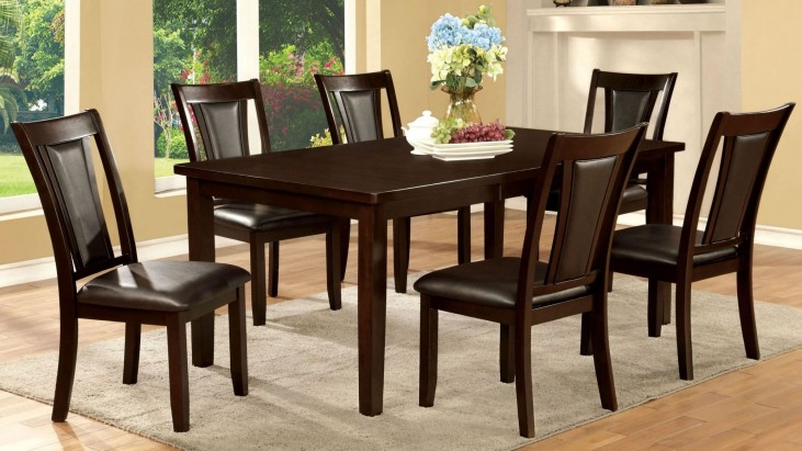Emmons I Dark Cherry Rectangular Extendable Leg Dining Room Set