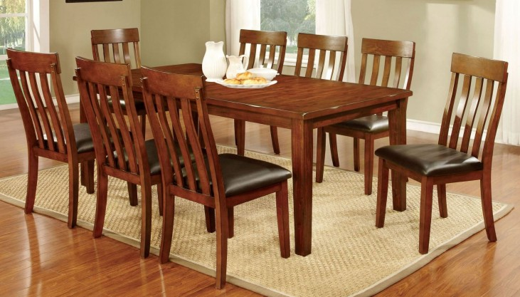 Foxville Cherry Rectangular Extendable Leg Dining Room Set