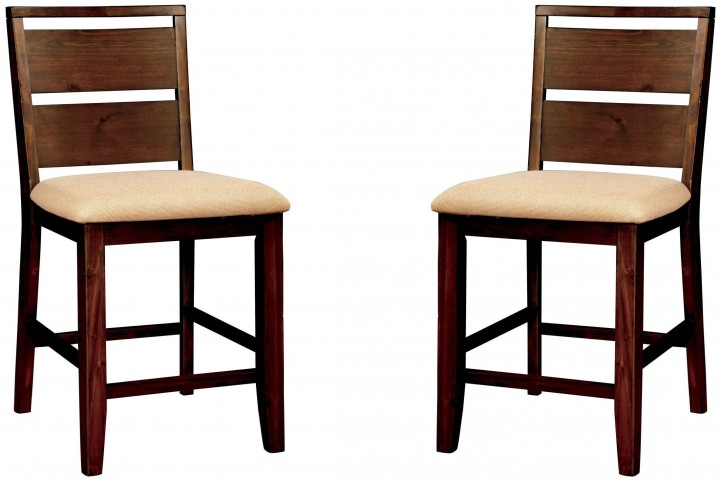 Dwight II Dark Oak Counter Height Chair Set of 2