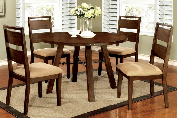 Dwight Dark Oak Round Dining Room Set