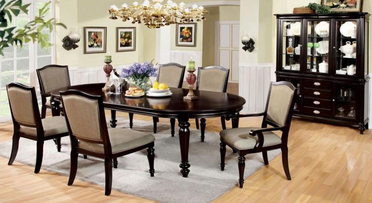 Harrington Dark Walnut Oval Extendable Leg Dining Room Set