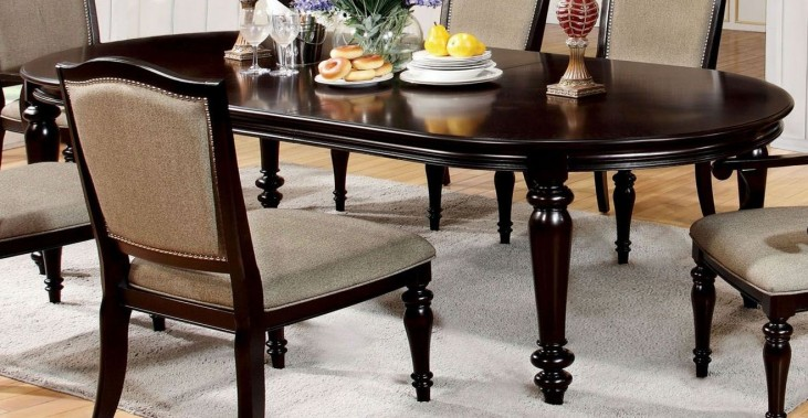 Harrington Dark Walnut Oval Extendable Leg Dining Table