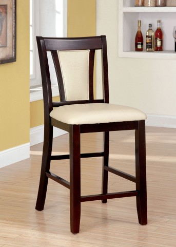 Brent II Ivory Counter Height Chair Set of 2