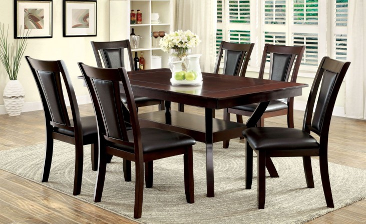 Brent Dark Cherry Rectangular Trestle Dining Room Set