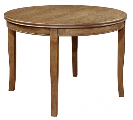Dwight II Natural Tone Round Dining Table