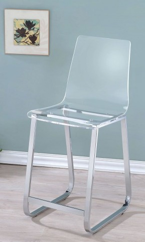 Yvetti Clear Ctr Ht Chair Set Of 2