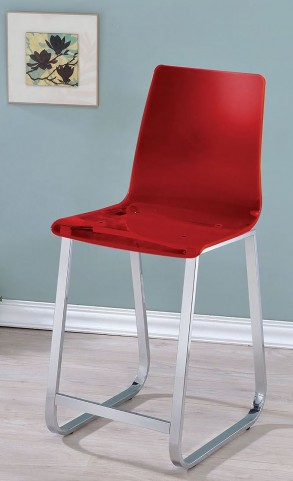 Yvetti Red Ctr Ht Chair Set Of 2