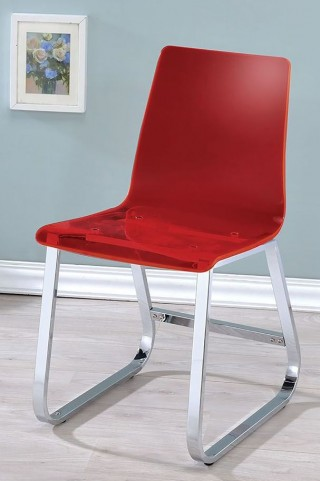 Yvetti Red Side Chair Set Of 2