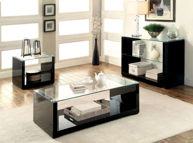 Myla Black Occasional Table Set