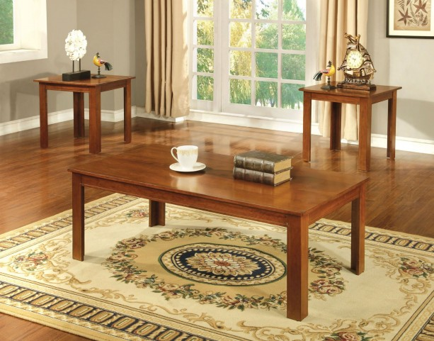 Harrison Oak 3 Piece Occasional Table Set