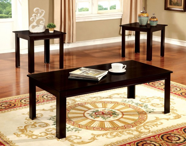 Harrison Espresso 3 Piece Occasional Table Set