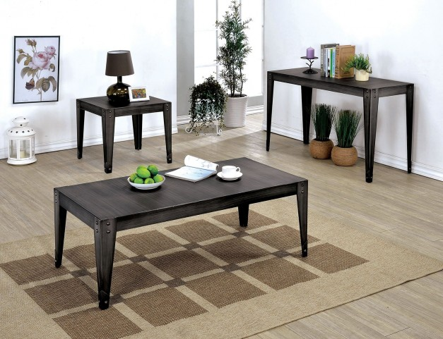 Floyd Weathered Black Occasional Table Set