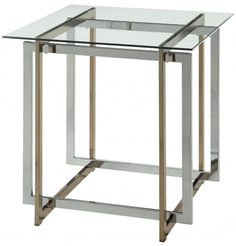 Skye Champagne and Chrome End Table
