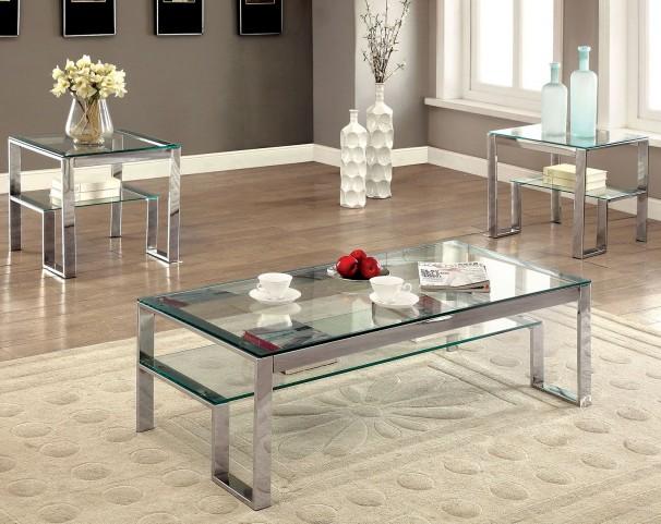 Nikita Chrome Occasional Table Set