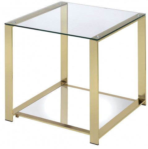 Aneta Champagne End Table