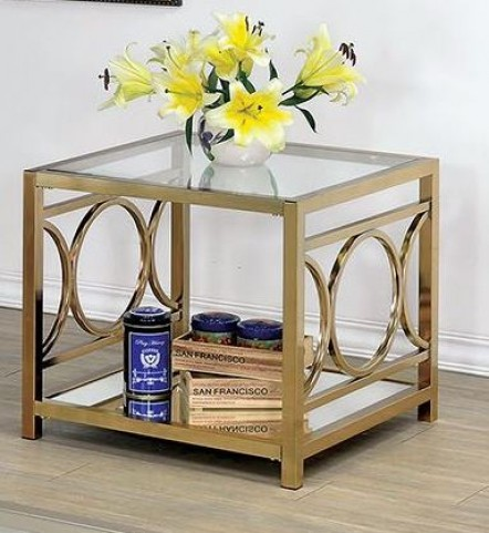 Rylee Champagne End Table