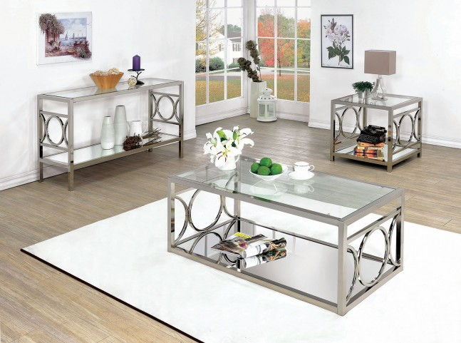 Rylee Chrome Occasional Table Set