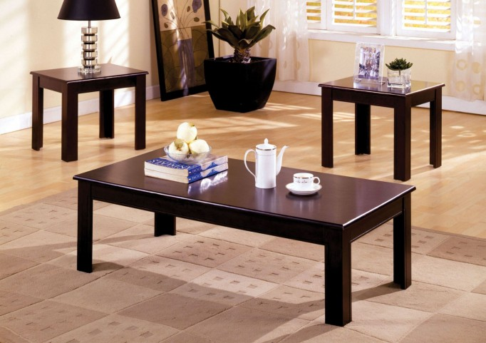 Town Square I Espresso 3 Piece Occasional Table Set