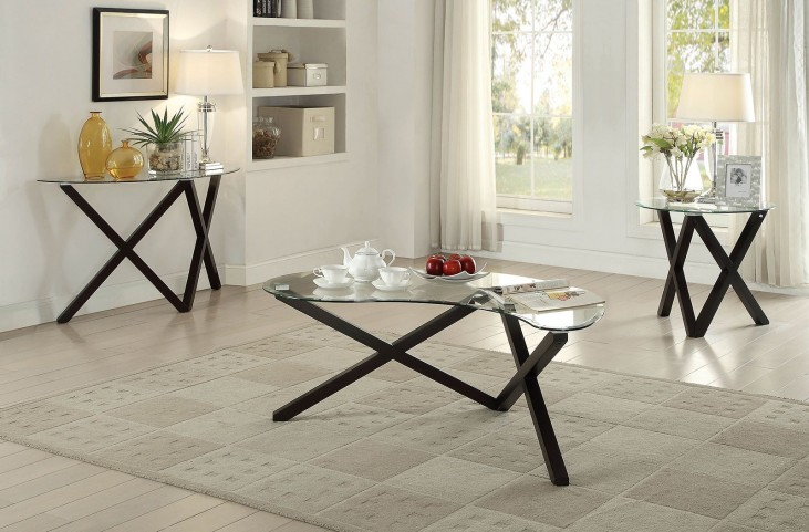 Meera Espresso Occasional Table Set