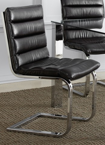 Columbia Faux leather Side Chair Set of 2