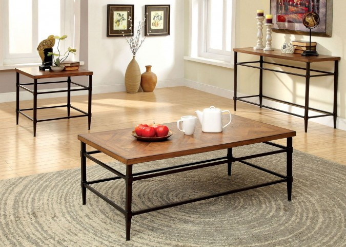 Herrick Light Oak Occasional Table Set