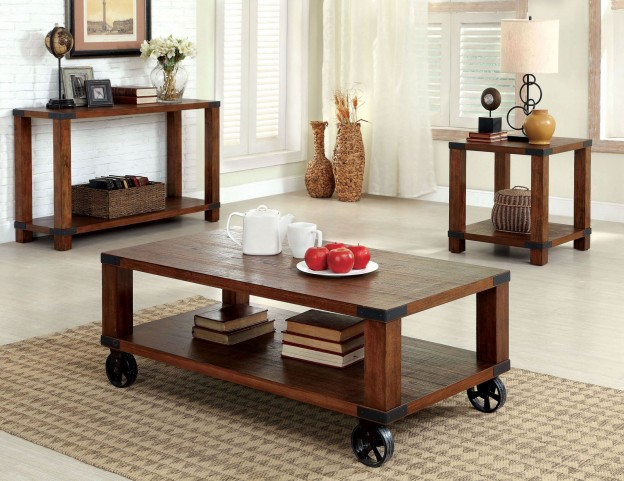 Broadus Dark Oak Occasional Table Set