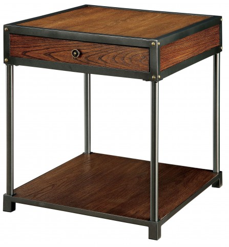 Hecura I Antique Oak End Table