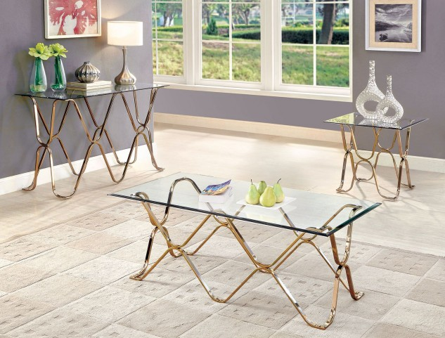 Vador Champagne Occasional Table Set