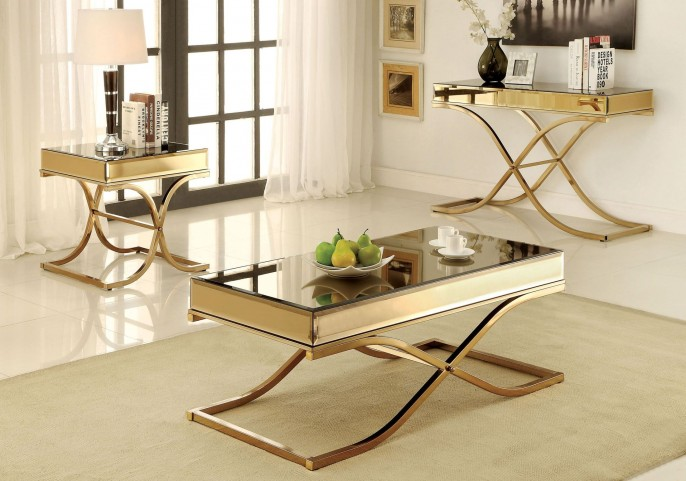 Sundance Brass Occasional Table Set