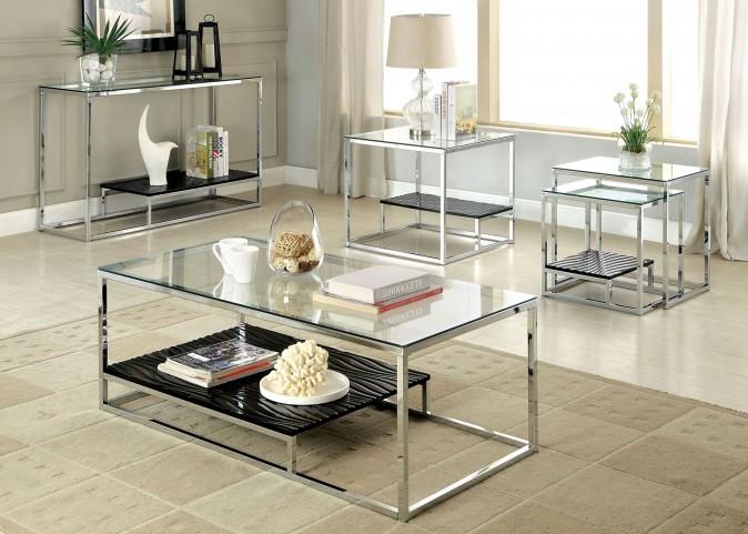 Vendi Black Occasional Table Set