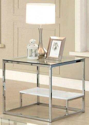 Vendi White End Table