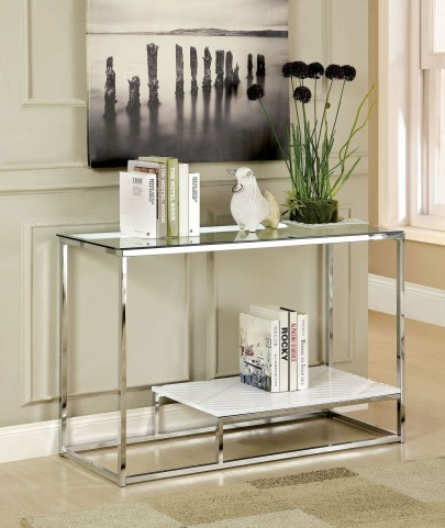 Vendi White Sofa Table