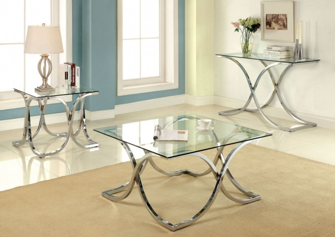 Luxa Chrome Occasional Table Set