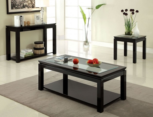 Venta Black Occasional Table Set