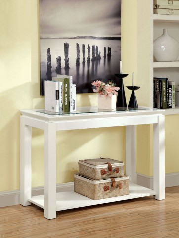 Venta White Sofa Table